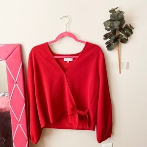 NWT Madewell Red Long Sleeve Top Size XL